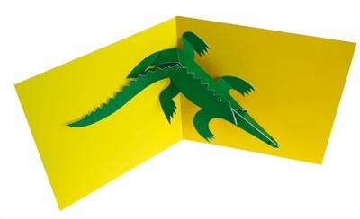 Animal pops: crocodile (6 cards + envelopes)