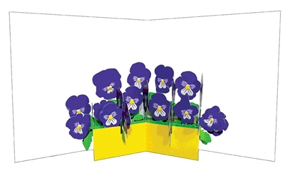 Flower vases: pansies (6 ex - 4,25 per stuk)