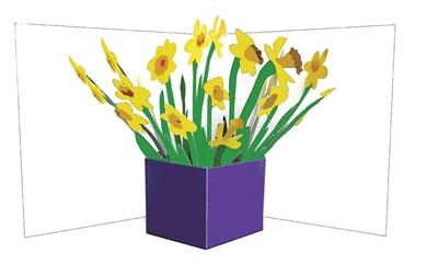 Flower vases: daffodils (6 ex - 4,25 per stuk)