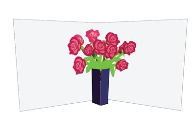 Flower vases: roses (6 ex - 4,25 per stuk)