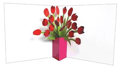 Flower vases: tulips (6 ex - 4,25 per stuk)