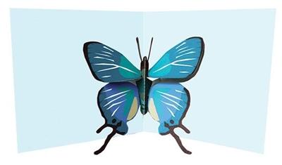 Blue butterfly (6 ex - 4,25 per stuk)