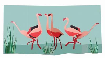 Flamingoes (6 ex - 4,25 per stuk)