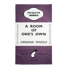 Room of one's own tea towel (purple)