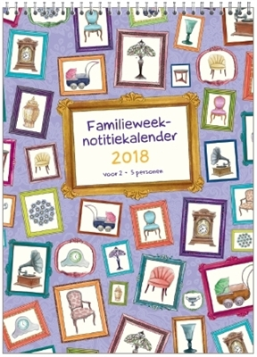 Familie notitie kalender 2018