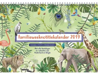 Familie notitie kalender 2019