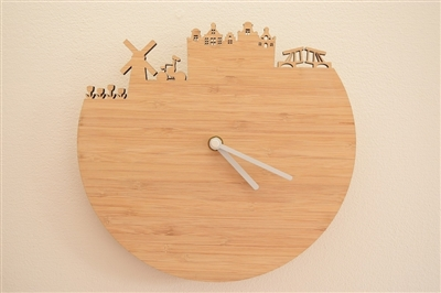 Stuff dutch people like: bamboo wall clock