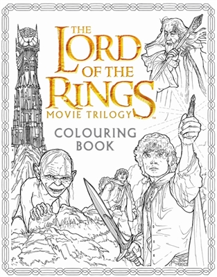 Lord of the rings movie trilogy colouring book