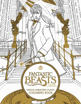 Fantastic beasts: magical characters and places colouring book 1