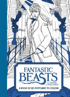 Fantastic beasts: book of 20 postcards to colour