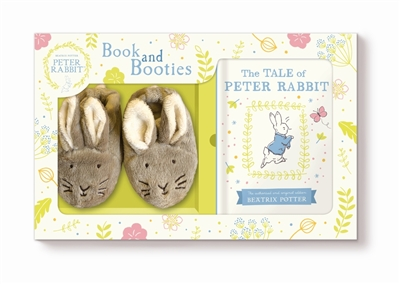 Tale of peter rabbit book and first booties set