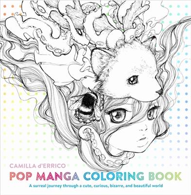 Colouring book Pop manga coloring book
