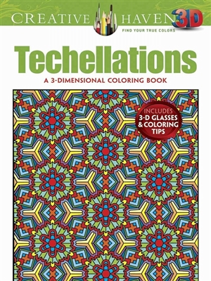 3-d techellations coloring book