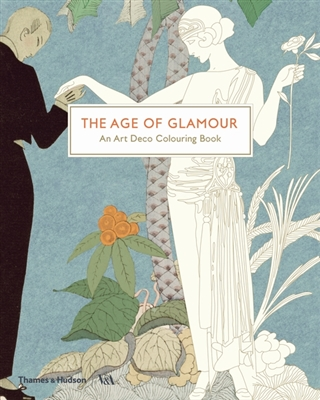 Age of glamour: an art deco colouring book