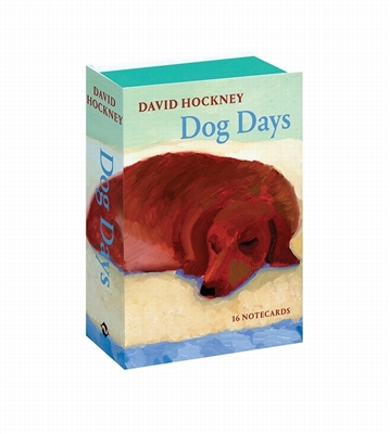 David hockney dog days: 16 notecards