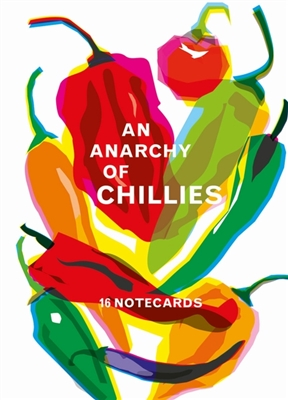 Anarchy of chillies: 16 notecards with envelopes