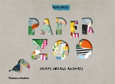 Paper zoo: create collage animals