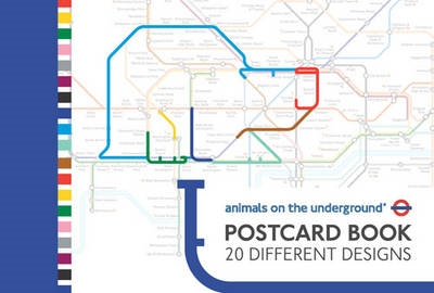 Animals on the underground postcard book: 20 designs