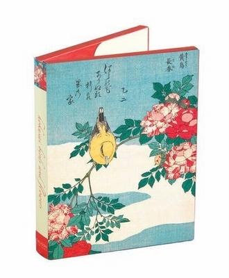 Hokusai birds and flowers - 12 notecards + envelopes