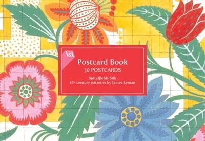 V&a spitalfields silk postcard book