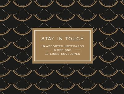 Modern gold greeting assortment: 16 notecards + envelopes
