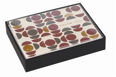 Mid-century mod luxe thank you notes