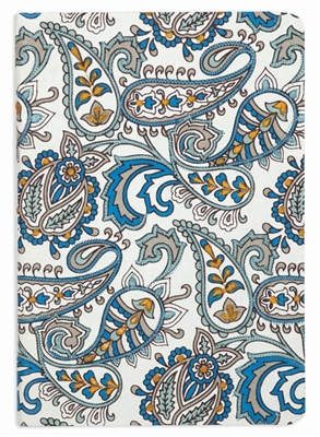 Paisley embroidered journal
