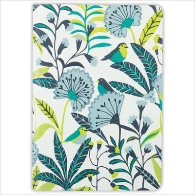 Avian tropics handmade embroidered journal