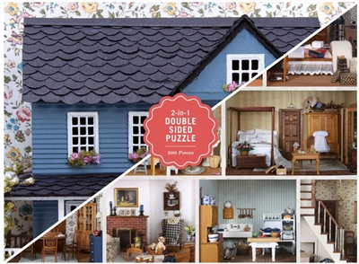 Vintage dollhouse 2-sided: 500 piece puzzle