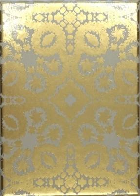 Oro y plata correspondence cards diecut envelopes