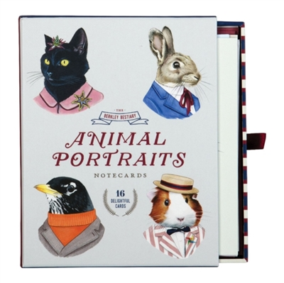 Animal portrait greeting card assortment