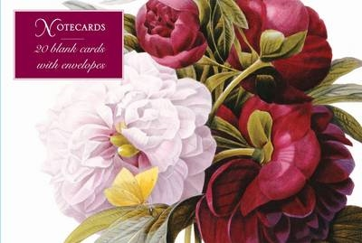 Redoute peony: card box of 20 notecards and envelopes