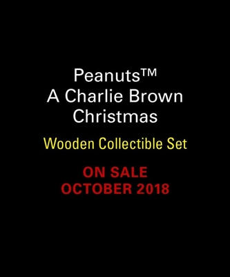 Charlie brown christmas wooden collectible set