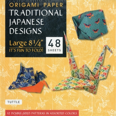 Origami paper traditional japanese designs - large