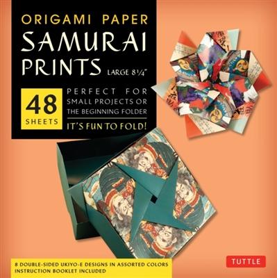 Origami paper samurai prints large 8 1/4