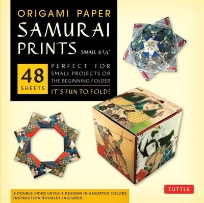 Origami paper samurai prints small
