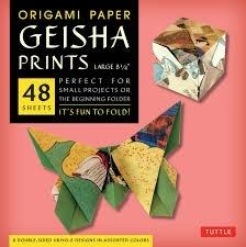 Origami paper geisha prints large