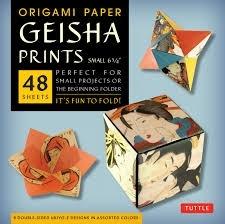 Origami paper geisha prints small