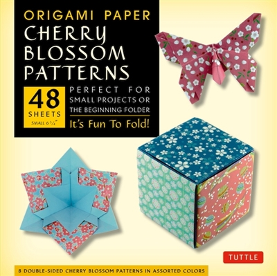 Origami paper cherry blossom prints: small 48 sheets
