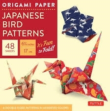 Origami paper: japanese bird patterns (small)