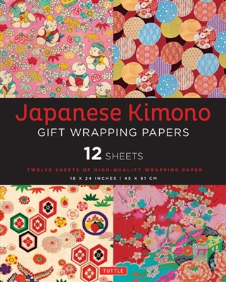 Japanese kimono gift wrapping paper