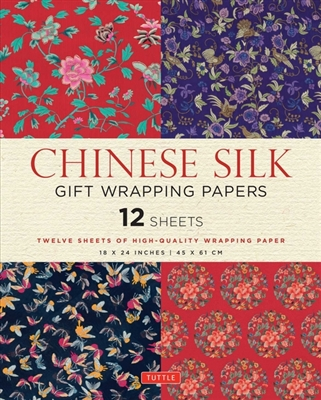 Chinese silk gift wrapping paper