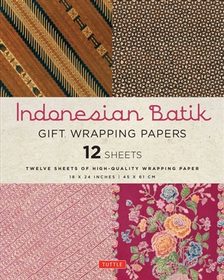 Indonesian batik gift wrapping papers: 12 sheets