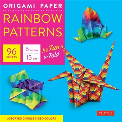 Origami paper - rainbow patterns - small