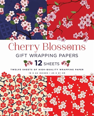 Cherry blossoms gift wrapping paper