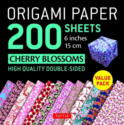 Origami paper 200 sheets cherry blossoms 15 cm)