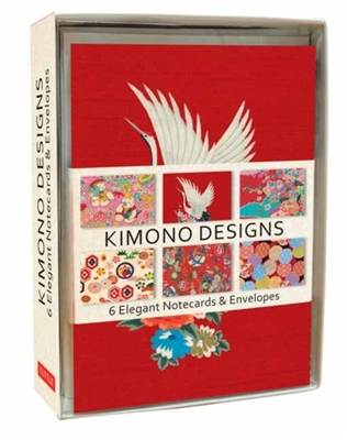 Kimono designs 6 notecards & envelopes