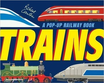 Trains a pop-up railway book