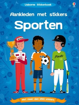 Usborne stickerboek Aankleden met stickers - sporten