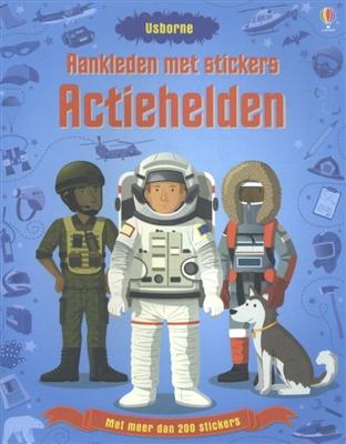 Aankleden met stickers: actiehelden